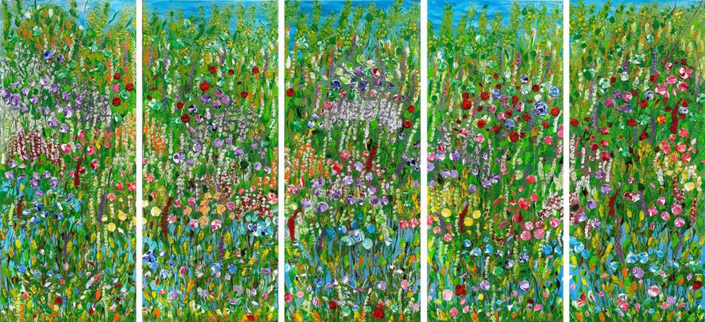 Gina-Li abstract flowers